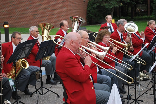 Red River Valley Veterans Concert Band performing outdoors