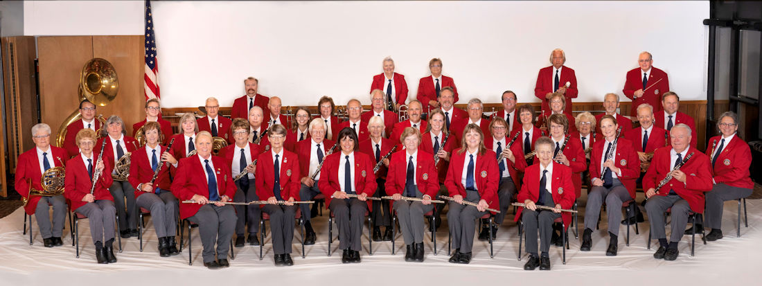 Red River Valley Veterans Concert Band group photo